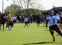 Quarterback Robert Griffin III looks for wide receiver DeSean Jackson. Photo by Terri Russell.