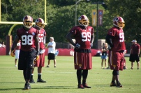 The Redskins defensive line waits for the snap. Photo by Jake Russell.