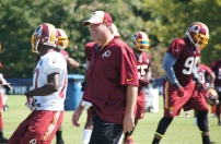 Head coach Jay Gruden looks on. Photo by Jake Russell.