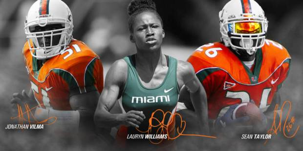 The late Sean Taylor will be inducted into his alma mater's hall of fame in 2015. Image via hurricanesports.com.