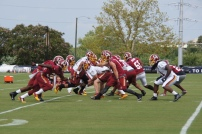 The Redskins special teams goes to work. Photo by Jake Russell.