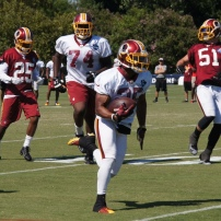 Running back Chris Thompson breaks loose. Photo by Jake Russell.