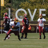 Wide receiver Jamison Crowder returns a punt. Photo by Terri Russell.