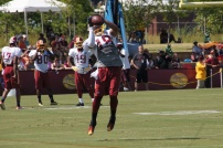 Wide receiver Reggie Bell catches a pass. Photo by Jake Russell.