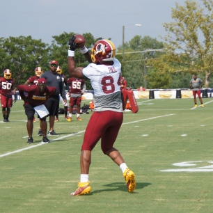 Niles Paul makes the catch. (Photo by Jake Russell)