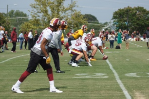 The Redskins offense gets ready. (Photo by Jake Russell)