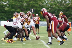 The offense and defense face off. (Photo by Jake Russell)