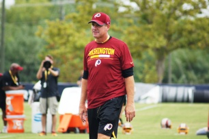 Redskins head coach Jay Gruden. (Photo by Jake Russell)