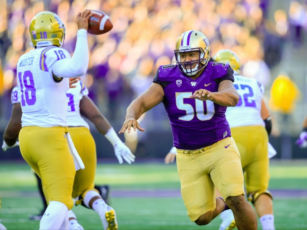 University of Washington defensive tackle Vita Vea appears to be a very likely choice for the Redskins at No. 13.
