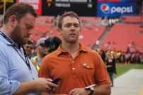 Former Texas Longhorn and current Washington Redskins quarterback Colt McCoy before Saturday's matchup. (Photo by Jake Russell)