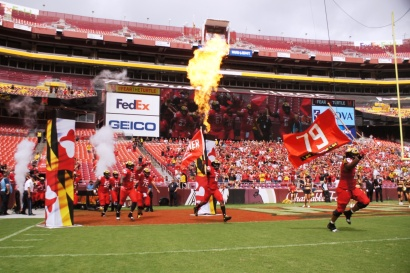 Maryland makes its entrance. (Photo by Jake Russell)