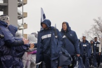 Penn State players arrive to fanfare at Beaver Stadium. (Photo by Jake Russell)