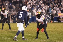 Maryland defensive back Rayshaud Lewis lines up against Penn State wide receiver Jahan Dotson. (Photo by Jake Russell)