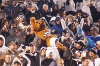 Penn State's mascot enjoys the game in the student section. (Photo by Jake Russell)