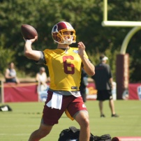 Redskins quarterback Josh Woodrum. (Photo by Jake Russell)