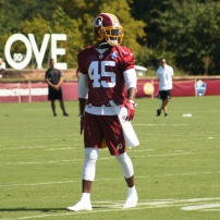 Redskins cornerback Dominique Rodgers-Cromartie. (Photo by Jake Russell)